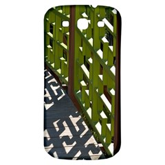 Shadow Reflections Casting From Japanese Garden Fence Samsung Galaxy S3 S Iii Classic Hardshell Back Case
