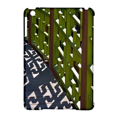 Shadow Reflections Casting From Japanese Garden Fence Apple Ipad Mini Hardshell Case (compatible With Smart Cover)