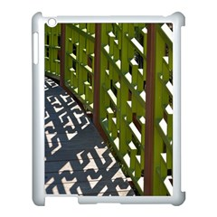 Shadow Reflections Casting From Japanese Garden Fence Apple Ipad 3/4 Case (white)