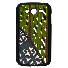 Shadow Reflections Casting From Japanese Garden Fence Samsung Galaxy Grand DUOS I9082 Case (Black)