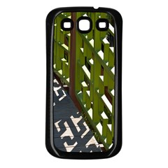 Shadow Reflections Casting From Japanese Garden Fence Samsung Galaxy S3 Back Case (black)