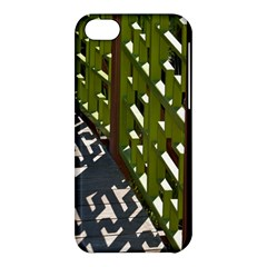 Shadow Reflections Casting From Japanese Garden Fence Apple Iphone 5c Hardshell Case