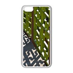 Shadow Reflections Casting From Japanese Garden Fence Apple Iphone 5c Seamless Case (white)