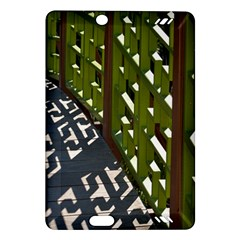 Shadow Reflections Casting From Japanese Garden Fence Amazon Kindle Fire HD (2013) Hardshell Case