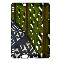 Shadow Reflections Casting From Japanese Garden Fence Kindle Fire Hdx Hardshell Case