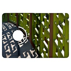 Shadow Reflections Casting From Japanese Garden Fence Kindle Fire Hdx Flip 360 Case
