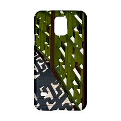 Shadow Reflections Casting From Japanese Garden Fence Samsung Galaxy S5 Hardshell Case