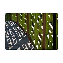 Shadow Reflections Casting From Japanese Garden Fence Ipad Mini 2 Flip Cases