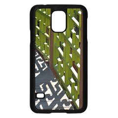 Shadow Reflections Casting From Japanese Garden Fence Samsung Galaxy S5 Case (black)