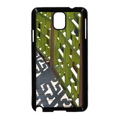 Shadow Reflections Casting From Japanese Garden Fence Samsung Galaxy Note 3 Neo Hardshell Case (black)