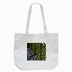 Shadow Reflections Casting From Japanese Garden Fence Tote Bag (White)