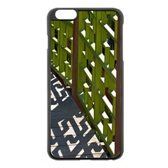 Shadow Reflections Casting From Japanese Garden Fence Apple Iphone 6 Plus/6s Plus Black Enamel Case