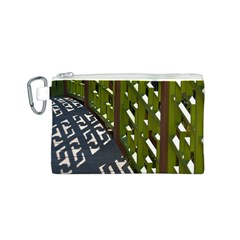 Shadow Reflections Casting From Japanese Garden Fence Canvas Cosmetic Bag (s)