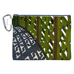 Shadow Reflections Casting From Japanese Garden Fence Canvas Cosmetic Bag (XXL)