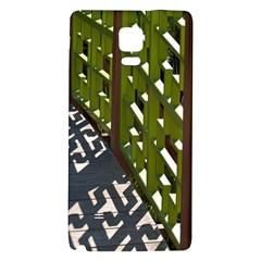 Shadow Reflections Casting From Japanese Garden Fence Galaxy Note 4 Back Case