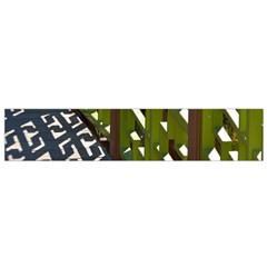 Shadow Reflections Casting From Japanese Garden Fence Flano Scarf (small)