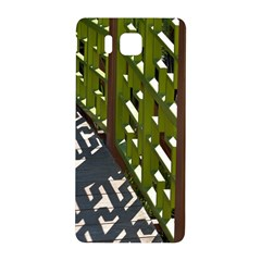 Shadow Reflections Casting From Japanese Garden Fence Samsung Galaxy Alpha Hardshell Back Case