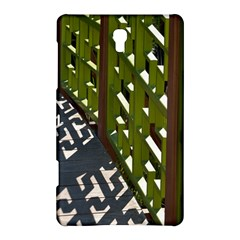 Shadow Reflections Casting From Japanese Garden Fence Samsung Galaxy Tab S (8.4 ) Hardshell Case