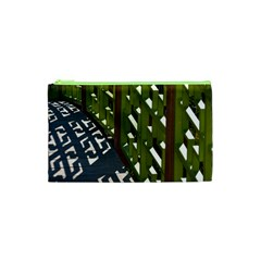 Shadow Reflections Casting From Japanese Garden Fence Cosmetic Bag (XS)