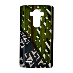Shadow Reflections Casting From Japanese Garden Fence Lg G4 Hardshell Case