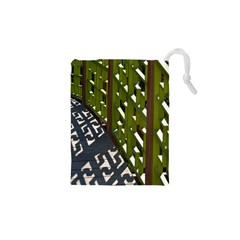 Shadow Reflections Casting From Japanese Garden Fence Drawstring Pouches (XS)