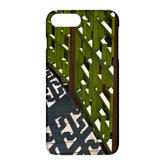 Shadow Reflections Casting From Japanese Garden Fence Apple Iphone 7 Plus Hardshell Case