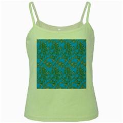 Seamless Pattern Background Seamless Green Spaghetti Tank