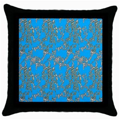 Seamless Pattern Background Seamless Throw Pillow Case (black)