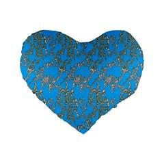 Seamless Pattern Background Seamless Standard 16  Premium Flano Heart Shape Cushions