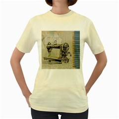 Sewing  Women s Yellow T-Shirt