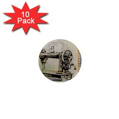 Sewing  1  Mini Magnet (10 Pack)