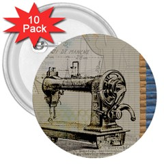 Sewing  3  Buttons (10 pack)