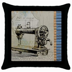 Sewing  Throw Pillow Case (Black)