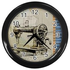 Sewing  Wall Clocks (Black)