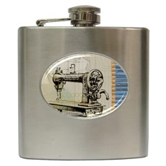 Sewing  Hip Flask (6 Oz)