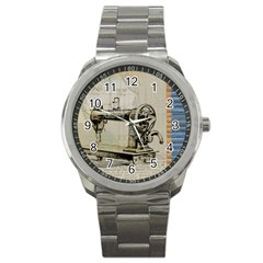 Sewing  Sport Metal Watch