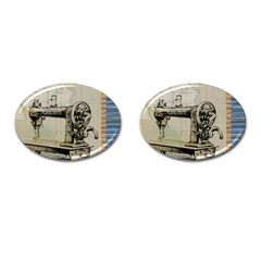 Sewing  Cufflinks (oval)