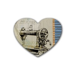 Sewing  Heart Coaster (4 pack)