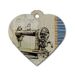 Sewing  Dog Tag Heart (One Side)
