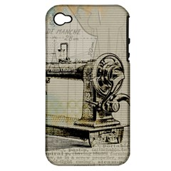 Sewing  Apple iPhone 4/4S Hardshell Case (PC+Silicone)
