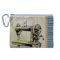 Sewing  Canvas Cosmetic Bag (L)
