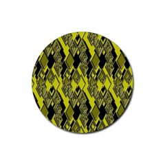 Seamless Pattern Background Seamless Rubber Round Coaster (4 pack)
