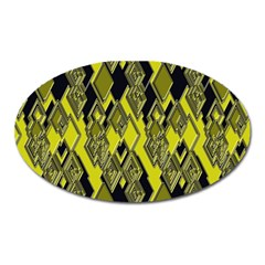 Seamless Pattern Background Seamless Oval Magnet