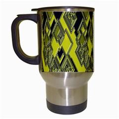 Seamless Pattern Background Seamless Travel Mugs (White)