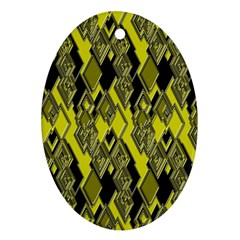 Seamless Pattern Background Seamless Oval Ornament (two Sides)