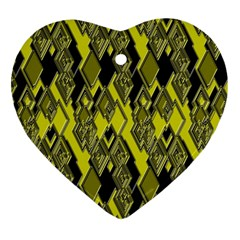 Seamless Pattern Background Seamless Heart Ornament (Two Sides)