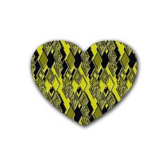Seamless Pattern Background Seamless Rubber Coaster (Heart)