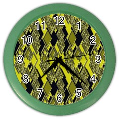 Seamless Pattern Background Seamless Color Wall Clocks