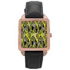 Seamless Pattern Background Seamless Rose Gold Leather Watch