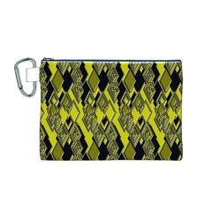 Seamless Pattern Background Seamless Canvas Cosmetic Bag (m)